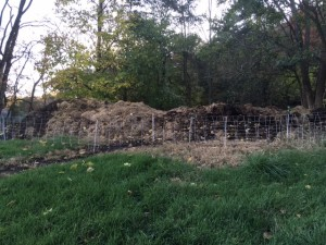 compost pile from north side Nov 2017