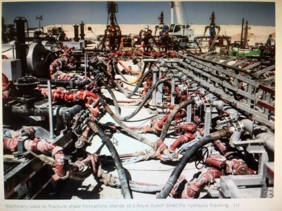 Fracking site in Texas 2017 photo Matthew Busch Bloomberg